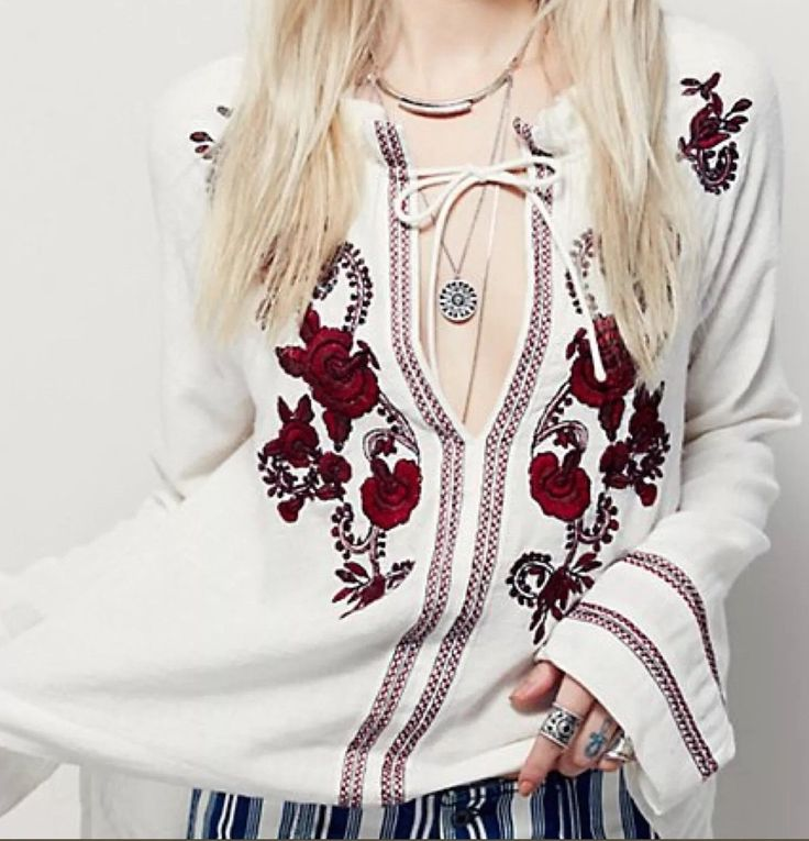 Free People Dancing In September Blouse L $148 | eBay