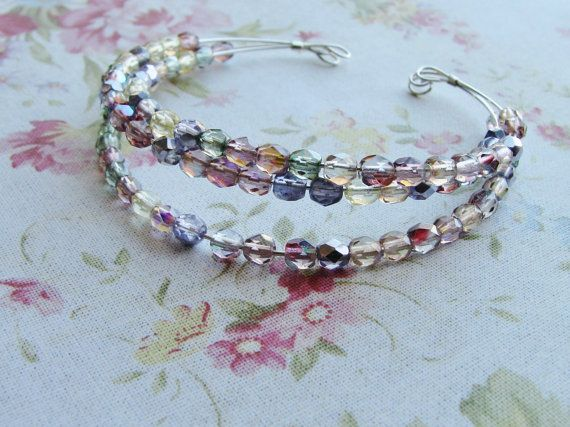 Different Style For Memory Wire .......Love it, and I love those beads!
