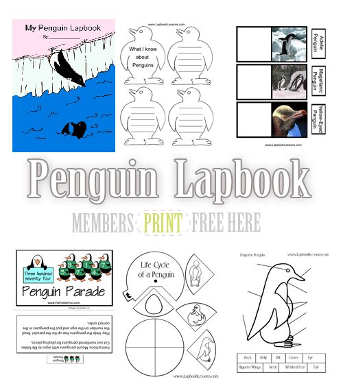 Lapbook Lessons has a ton of FREE Animal Lapbooks for you, and if you can't choose one, just download all of them! You can see the pengu