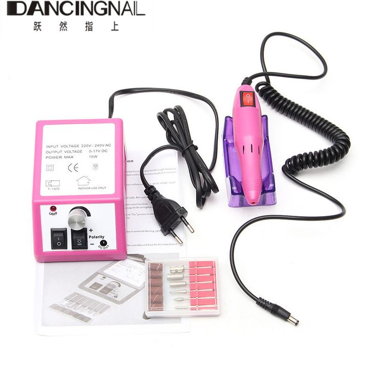 Pink Electric Nail Art Drill Machine 20000RPM Equipment Manicure Kit Tool Naisl File Bit Sanding Bands Accessory 220V Eu Plug