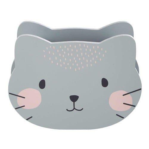 Porte-crayons chat gris MINA   Maisons du Monde