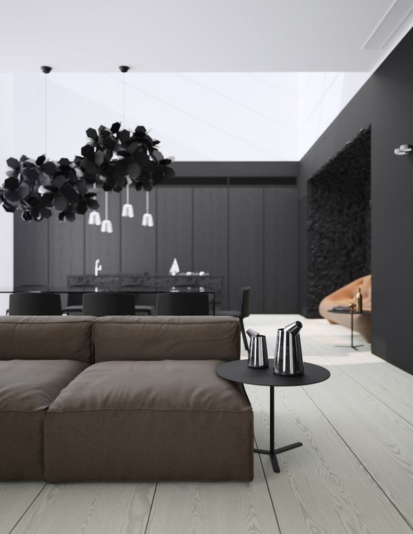 Minimalism Meets Sober Patterns in Modern Apartment