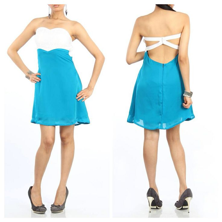Short tube dress with a detailed back