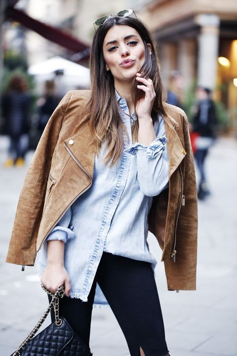 Leather Jacket for Fall: The Suede Jacket  The '70s trend is still going strong, and that means, suede is de rigueur. Choose basic black or perhaps a rich berry for your fall go-to