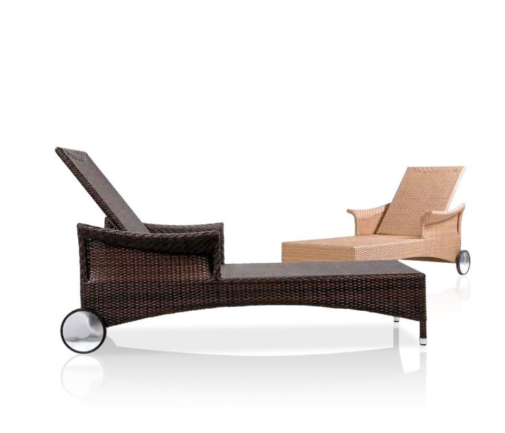 The Colonia wicker loungers are perfect for kicking back and soaking up some vitamin D.  See more at http://bit.ly/1cUq5Ko