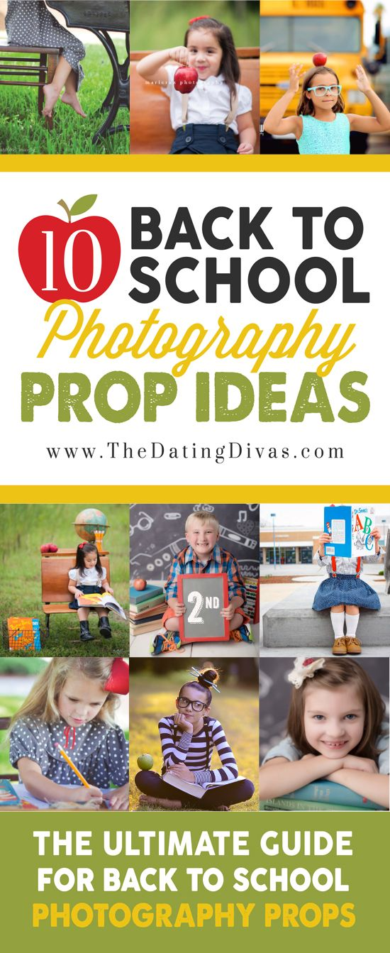 50 Ideas for Back to School Photography - Tons of great tips and examples including props, poses, and senior photography ideas!