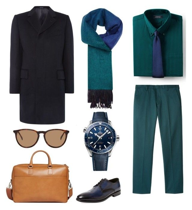 """Без названия #11"" by mariagavrina on Polyvore featuring Lands' End, Chester Barrie, Antonio Maurizi, Paul Smith, OMEGA, Brooks Brothers, Nonnative, men's fashion и menswear"