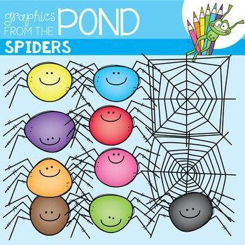 Spider + Webs Clipart SetThis is a set of 20 individual files to use in your classroom and teacher resource files that you sell and distribute.Perfect for spider and Halloween resources, it includes 9 different colored and shaped spiders. It also includes 2 different spider webs.They CANNOT be shared or distributed as image/clipart files for any reason.You can create a teaching document file with them where the images are embedded and credit is included within the file.Not your own clipart…