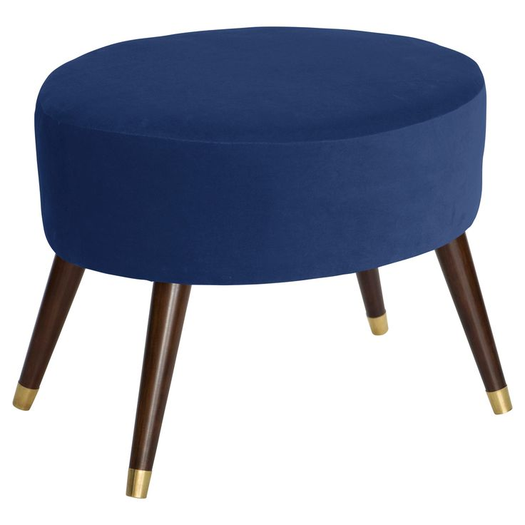 foot rests for living room%0A Skyline Oval Ottoman  Skyline Furniture  Navy Chest