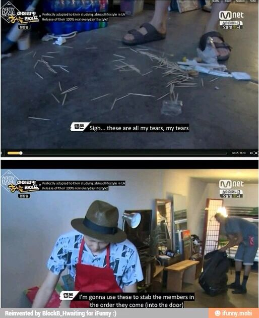 RapMon when hes forced to clean after his dirty members XD