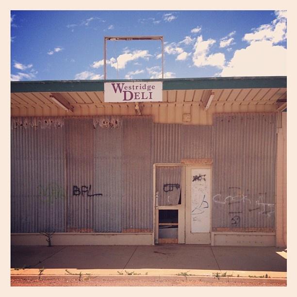 Whyalla. South Australia. Shop front. Deli. Store closed.