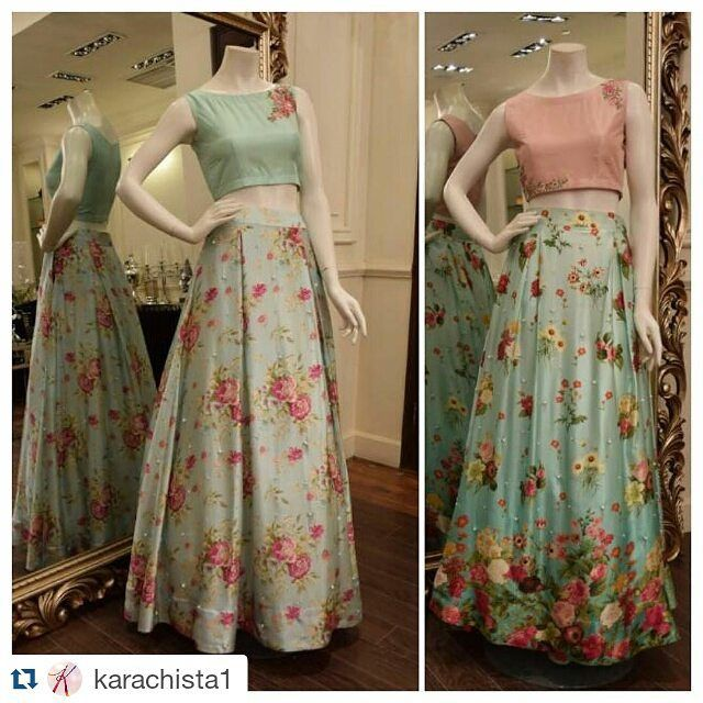 #Repost @karachista1 with @repostapp ・・・ Floral lenghas at high street prices? @threadsandmotifsofficial is on a roll! #weddingseason #pakistanifashion #florallengha #affordablefashion