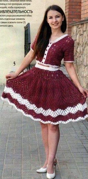 Suknia z hakiem spódnica rozgorzał