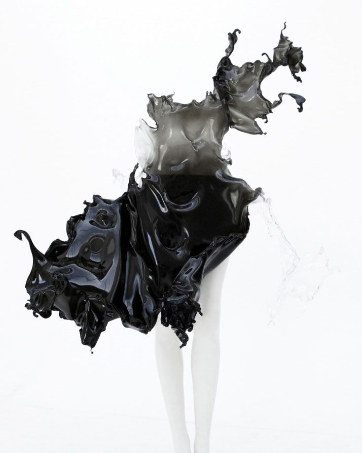 ''Crystallization'' one of a kind dress by Iris Van Herpen. (2013) http://www.yatzer.com/global-warming-on-art-design