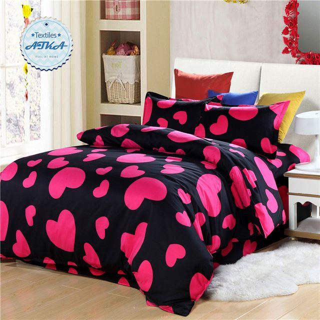 Conjuntos de cama 3 pcs Do amor Do Coração/4 pcs gêmeo completa rainha estrela…