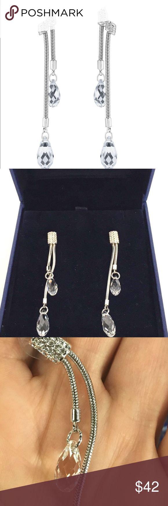 Swarovski Gillian earrings Perfect condition beautiful Swarovski crystal earrings /got as a gift never worn.elegant and stylish ❄️❄️❄️ Swarovski Jewelry Earrings