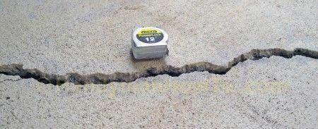 Raised Crack in Concrete Slab