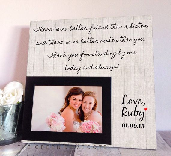 Sister Wedding Gift Maid Of Honor Gift by TheGreenDovecote