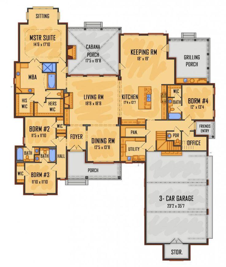 1st fl 3399 sq ft #658594 - IDG2614 : House Plans, Floor Plans, Home Plans, Plan It at…