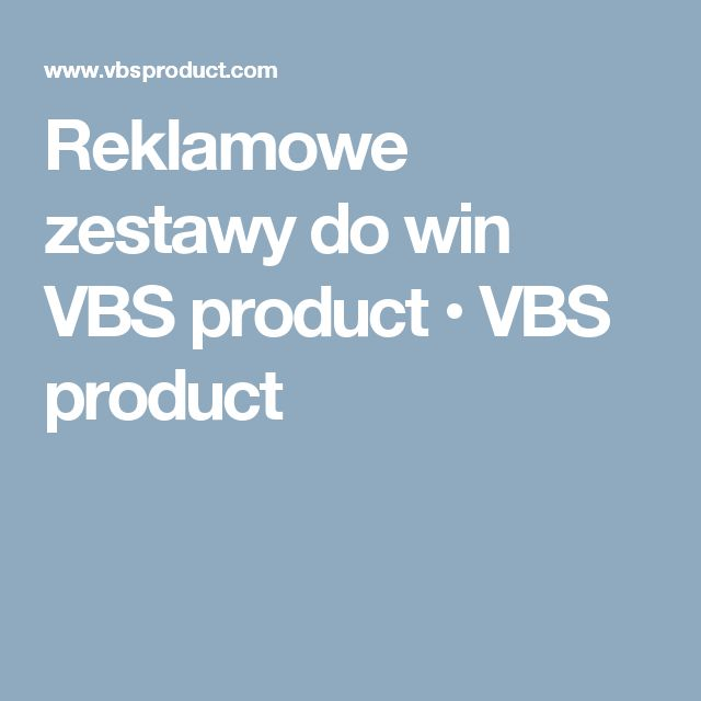 Reklamowe zestawy do win VBS product • VBS product