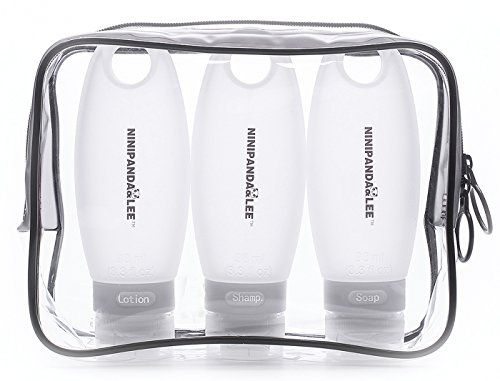 e7a54f85a4c8 Travel Size Containers for liquids,Leak-proof Airline Travel bottles ...