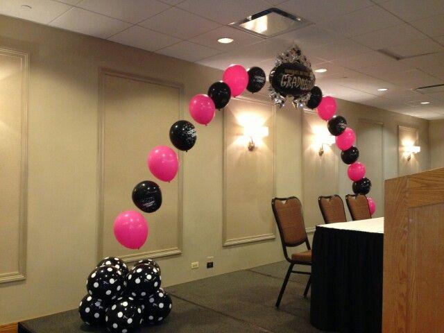 Graduation Stage Balloon Decor Graduation Party Kindergarten