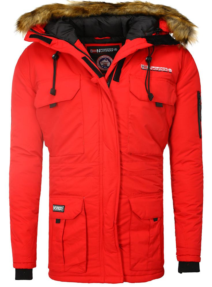 Jacket Men Jacket Geographical Norway red