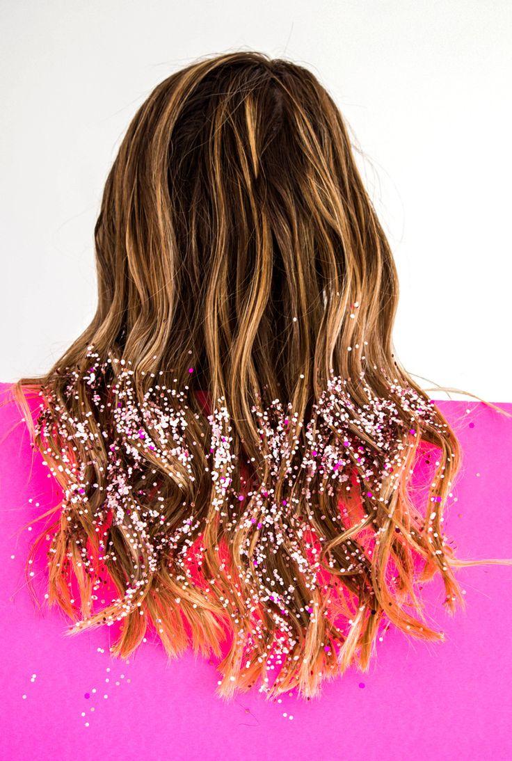 Glitter Dipped Hair! http://asubtlerevelry.com/wear-share-wear-confetti