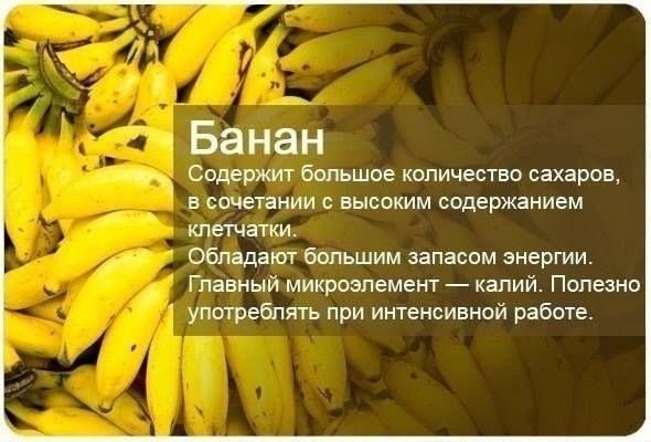 >Банан полезен при язве желудка В банане содержатся вещества, которые убивают бактерии, вызывающие язву желудка, а также способствует выделению слизи, обволакивающей язву.   >Банан помогает при поносах Банан полезен при диарее. Это единственный из овощей и фруктов, который можно есть при поносе. При поносах люди теряют калий, что может привести к обезвоживанию, гипокалиемии, аритмиям, нарушениям ритма сердца. А банан содержит много калия, текстура его мягкая, он восполняет потерю…