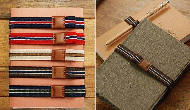 When it comes to notebooks, we'll always love our Moleskins. Japanese made Delfonics diaries have often caught our eye though and spotting these striped elastic notebook bands ($17) has renewed our interest. Sure, the idea of paying $17 for a rayon strap with slight leather detailing might seem absurd, but for stationary geeks like us,...