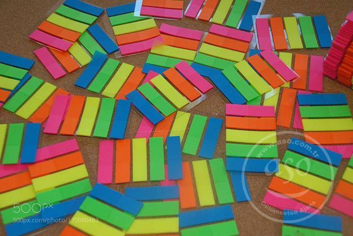 Promosyon yapışkan notluk setleri için renkli ayraç (seperatör)... by asoreklam