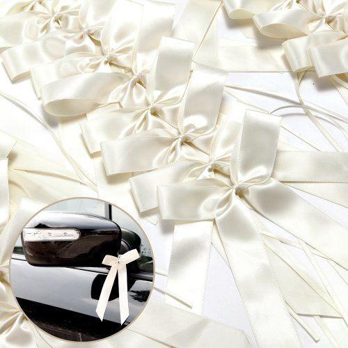 25 Antennenschleifen Cream Autoschmuck Autoschleifen Hochzeit