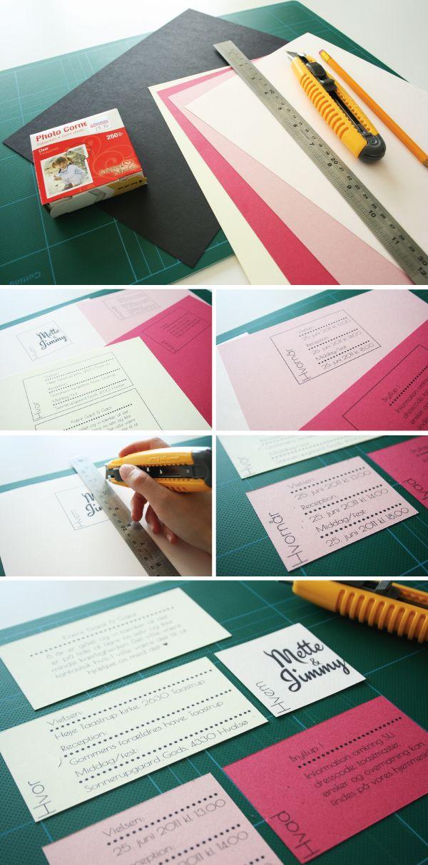 Invitation DIY guide, print og skær ud