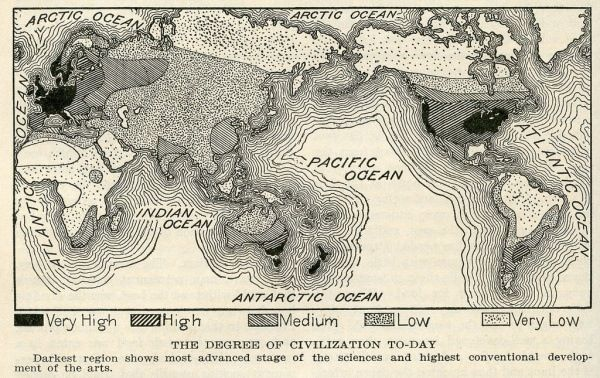 """Degrees of civilization """"today"""""""