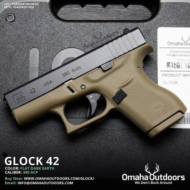 omahaoutdoorsGlock 42 FDE Pistol (cerakoted)  Follow @omahaoutdoors if you…Find our speedloader now!  http://www.amazon.com/shops/raeind