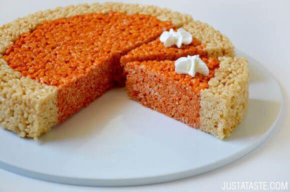 OK, that's pretty damn cute! —Pumpkin Pie Rice Krispie Treats Recipe