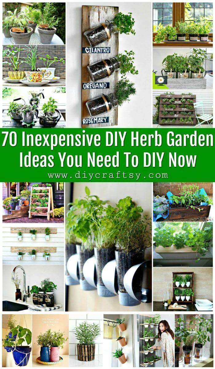 70 Preiswerte Diy Krautergarten Ideen Die Sie Jetzt Zum Heimwerken Benotigen Diy Herb Garden Vertical Herb Garden Indoor Herb Garden