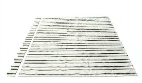 ALEKO® Awning Fabric Replacement 20x10 Feet for Retractable Awning Multy Stripes Green Color