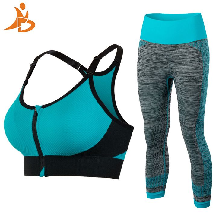 YD Newest Fitness Women Yoga Set Quick Dry Compression Tights Pants Gym Tracksuit Sexy Running Bra Clothes Workout Sport Suit