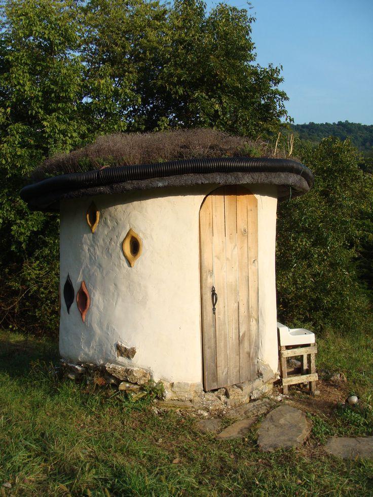 Christina's Privy  round adobe outhouses