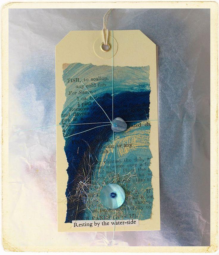 CAROLYN SAXBY MIXED MEDIA TEXTILE ART: Mosaic