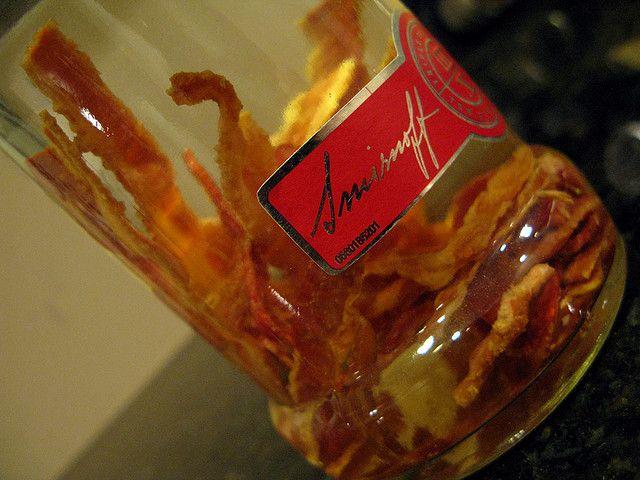 YUM!! BEST THING EVER!! Homemade Bacon Vodka recipe at Bensa Bacon blog