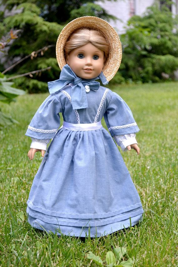Civil War 18 inch American Girl doll dress Miss March by Pemberley Threads on Etsy