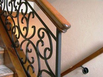 images of traditional simple open stairways | Eugene custom home