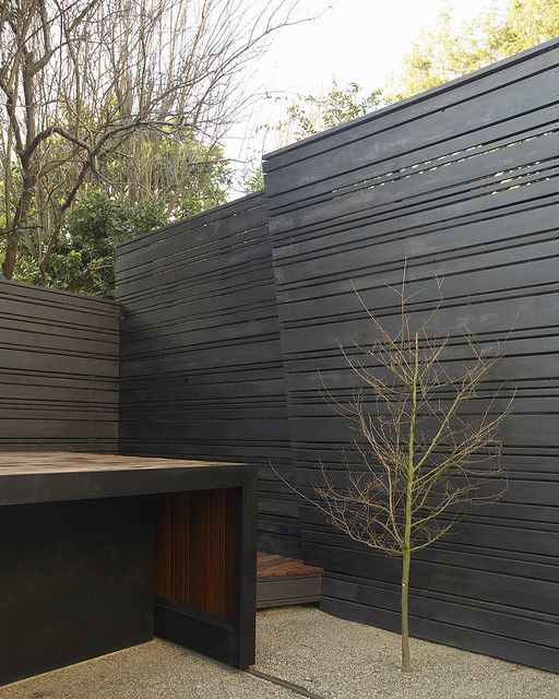 25 best ideas about black fence on pinterest backyard for Horizontal garden screening