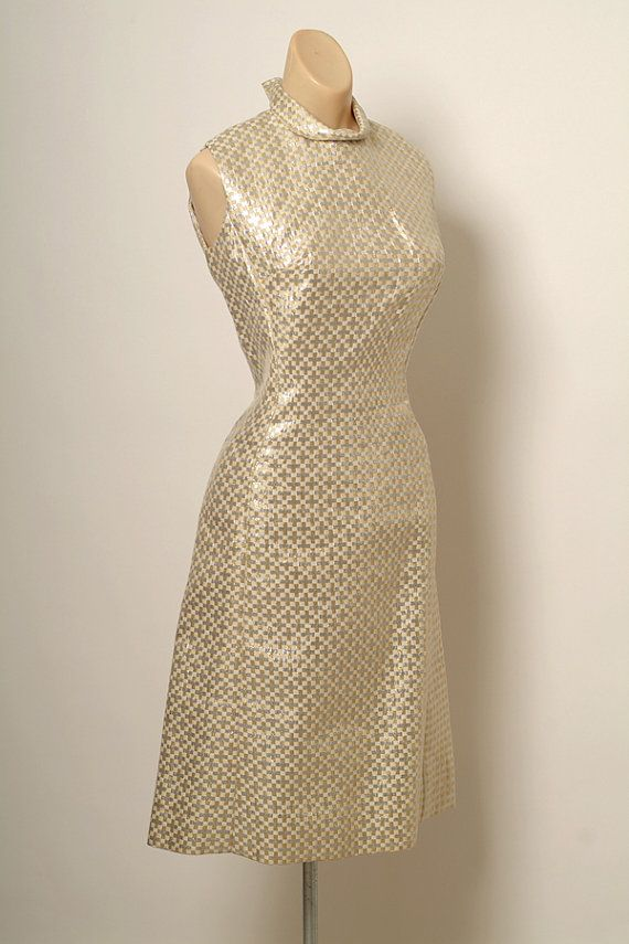 Vintage 60s Gold & Silver Metallic Dress / by VintageBoxFashions, $52.99