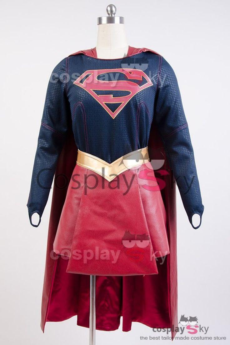 CBS Supergirl Kara Zor-El Danvers Costume + Cape Cosplay Costume_1