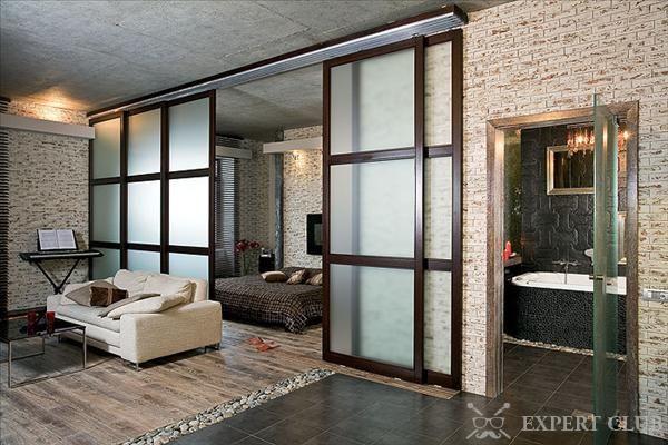 Раздвижные двери для разделения зон в помещении