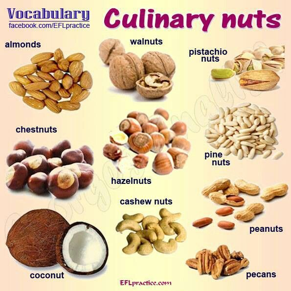 Nut vocabulary.