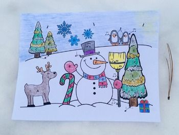 Consider this Musical Snowman color/worksheet as learning task, fun practice activity or assessment. It is also a great activity to leave for a substitute to keep students engaged in learning or as a center activity. Students color the spaces on the picture according to notes on the staff and basic note values labeled with colors.  Concepts: - treble clef lines and spaces note names  - basic rhythm note values : whole, dotted half, half, quarter, half, and quarter rests - help sheet is…